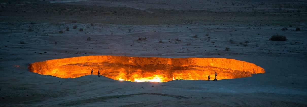 Der Krater von Derweze