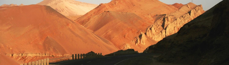 Flammende Berge bei Turfan